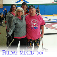 A mixed team shows off their fun team uniforms